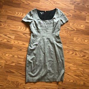 Anne Klein grey fitted work dress